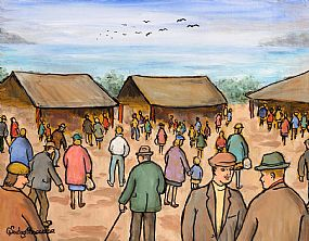 Gladys MacCabe, Mayo Market at Morgan O'Driscoll Art Auctions