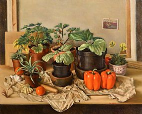 Therese McAllister, Still Life - The Potting Shed at Morgan O'Driscoll Art Auctions