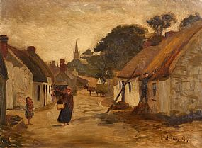 Joseph Poole Addey, The Cladagh, Galway at Morgan O'Driscoll Art Auctions