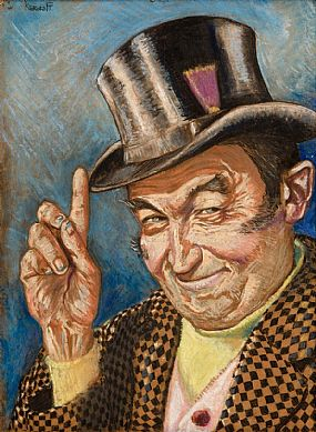 Harry Kernoff, The Jarvey (Barry Fitzgerald) (1952) at Morgan O'Driscoll Art Auctions