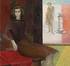 Barbara Warren, Two Figures and a Source of Water (1988) at Morgan O'Driscoll Art Auctions