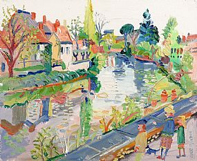Fred Yates, At the Canal at Morgan O'Driscoll Art Auctions