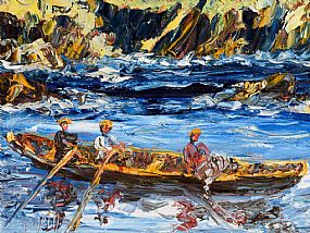 Liam O'Neill, Lobster Men Off Dingle at Morgan O'Driscoll Art Auctions