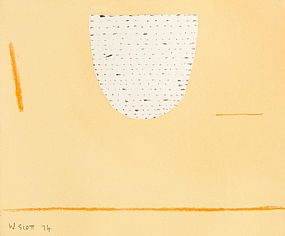 William Scott, Untitled Abstract (1974) at Morgan O'Driscoll Art Auctions