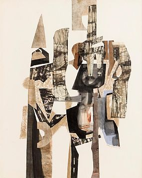 George Campbell, Paly of Quixote Shapes (1968) at Morgan O'Driscoll Art Auctions