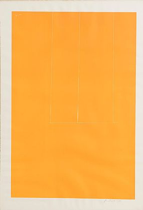 Robert Motherwell, London Series I. Orange (1971) at Morgan O'Driscoll Art Auctions