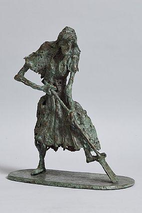 John Behan, Woman Searching for Potatoes (2014) at Morgan O'Driscoll Art Auctions