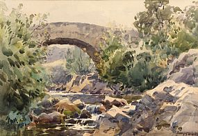 Frank McKelvey, Trassey Bridge, Near the Mourne Mountains, Co. Down at Morgan O'Driscoll Art Auctions