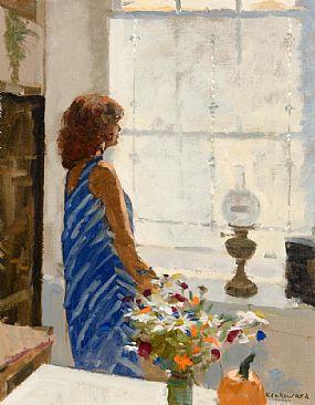 Ken Howard, Dora and the Summer Flowers at Morgan O'Driscoll Art Auctions