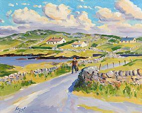 Fergal Flanagan, Summer, Mannin Bay, Connemara at Morgan O'Driscoll Art Auctions