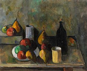 Peter Collis, Still Life With Black Bottle at Morgan O'Driscoll Art Auctions