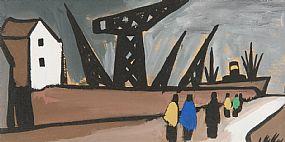 Markey Robinson, Belfast Docks at Morgan O'Driscoll Art Auctions