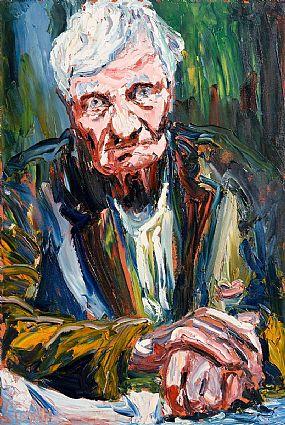 Liam O'Neill, Portrait of Francis Stuart at Morgan O'Driscoll Art Auctions