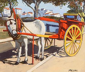 Cecil Maguire, Donkey and Cart at Morgan O'Driscoll Art Auctions