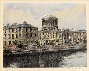 Flora Mitchell, The Four Courts, Dublin at Morgan O'Driscoll Art Auctions