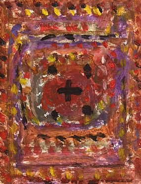 Alan Davie, Cross Out of the Red (2012) at Morgan O'Driscoll Art Auctions