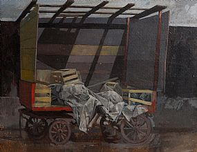 Hector McDonnell, Market Stall, Pimlico (1975) at Morgan O'Driscoll Art Auctions