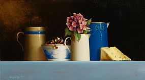 David Ffrench, Still Life With Stilton and Hydrangea at Morgan O'Driscoll Art Auctions