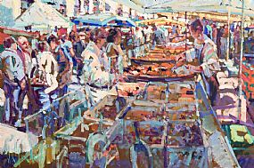 Arthur K. Maderson, Paella Stall, Gange Market, France at Morgan O'Driscoll Art Auctions