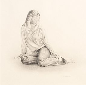 John Waterhouse, Study of Fiona at Morgan O'Driscoll Art Auctions