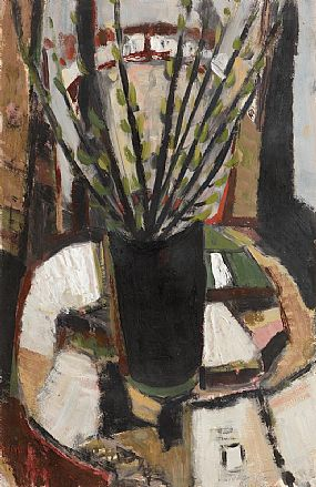 Tony O'Malley, Still Life on Piazza Studio (1962) at Morgan O'Driscoll Art Auctions