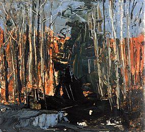 Donald Teskey, Hemlock & the Evening Sunlight Across the Valley I (2006) at Morgan O'Driscoll Art Auctions