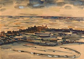 Norah McGuinness, Continental Coastal Landscape at Morgan O'Driscoll Art Auctions