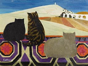 Mary Fedden, Cats (2003) at Morgan O'Driscoll Art Auctions