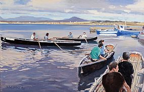 Cecil Maguire, Before the Curragh Race, Roundstone (1990) at Morgan O'Driscoll Art Auctions
