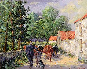 James S. Brohan, Milking Time at Morgan O'Driscoll Art Auctions