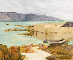 Barbara Warren, Island Harbour, Lettermore, Co. Galway (1973) at Morgan O'Driscoll Art Auctions