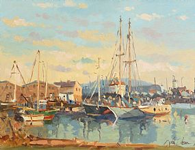 Liam Treacy, Moored at the Quay at Morgan O'Driscoll Art Auctions