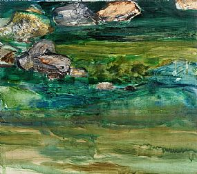 Barrie Cooke, Ugly River and Rocks (2001) at Morgan O'Driscoll Art Auctions