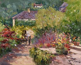 Liam Treacy, The Artist's Garden at Morgan O'Driscoll Art Auctions