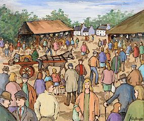 Gladys MacCabe, Busy Market at Morgan O'Driscoll Art Auctions