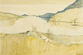 Cecil Maguire, Dawn, Killary Harbour (1971) at Morgan O'Driscoll Art Auctions