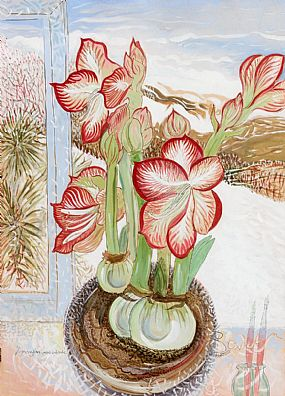 Pauline Bewick, Amaryllis, Snow Outside (2009/10) at Morgan O'Driscoll Art Auctions