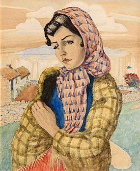 Harry Kernoff, Connemara Girl (1954) at Morgan O'Driscoll Art Auctions