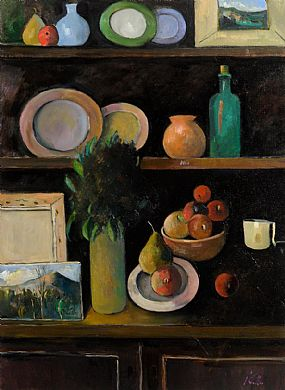 Peter Collis, Still Life And Landscapes on the Dresser at Morgan O'Driscoll Art Auctions