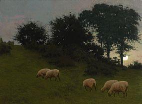 Joseph Malachy Kavanagh, Whispering Leaves and Wandering Sheep at Morgan O'Driscoll Art Auctions