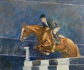 Basil Blackshaw, Eddie Macken on Carroll's Royal Lion, Dublin Horse Show, RDS at Morgan O'Driscoll Art Auctions