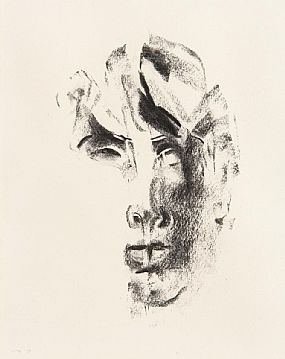 Louis Le Brocquy, Studies Towards an Image of W.B.Yeats (1975) at Morgan O'Driscoll Art Auctions
