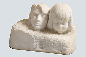 Joseph Higgins (1885-1925) & Seamus Murphy RHA (1907-1975), Children (1947) at Morgan O'Driscoll Art Auctions