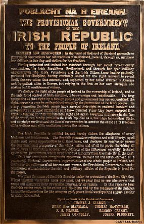 1916 Irish Proclamation, Original Cast of the Authentic Print of the Irish Proclamation (which includes original type setting errors) (2016) at Morgan O'Driscoll Art Auctions
