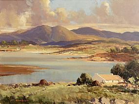George Gillespie, Coastal Landscape with Cottage, Connemara at Morgan O'Driscoll Art Auctions
