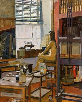 Ken Howard, Interior St. Clements Hall at Morgan O'Driscoll Art Auctions