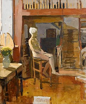 Ken Howard, Female Model in St. Clements Hall at Morgan O'Driscoll Art Auctions