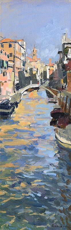 Ken Howard, Canal in Venice at Morgan O'Driscoll Art Auctions