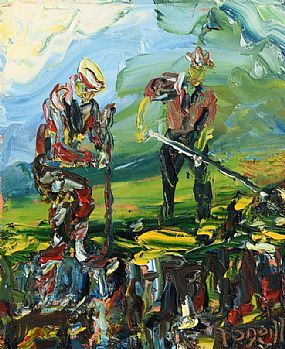 Liam O'Neill, Turf Cutters at Morgan O'Driscoll Art Auctions