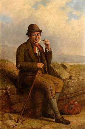 Charles Henry Cook, The Traveller at Rest at Morgan O'Driscoll Art Auctions